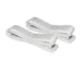 80 cm Belt Straps white for BALCONERA (2 pieces)